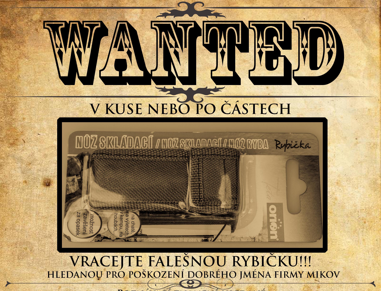 Plakát wanted falešná rybička detail
