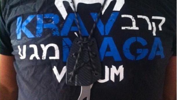 nůž list (MIkov) a tričko Krav Maga