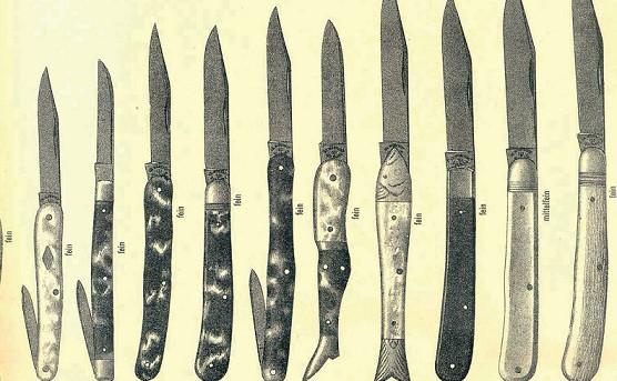 historické nože - rybička